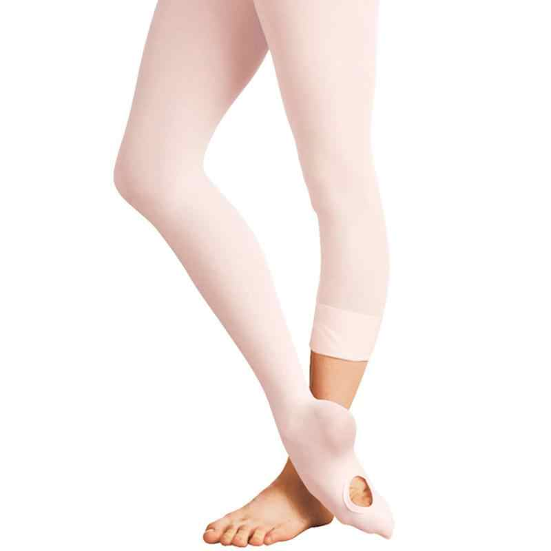 c55ff7716 Adult Women Kids Girls Convertible Foot Ballet Dance Sock Panty Soft  Microfiber Seamless Ballet Socks
