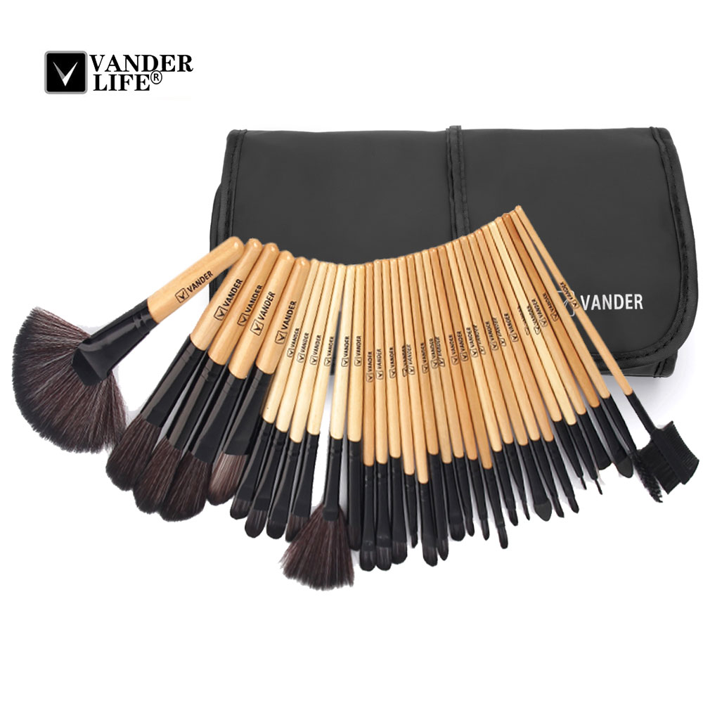 Vander MULTIPURPOSE 10 / 32pcs Makeup Brushes Kits Professional Foundation Powder Oval Brush Face-painting Beauty Tool Maquiagem