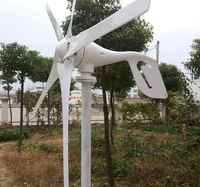 Portable 400w 12v/24v home use wind turbine generator with charging controller