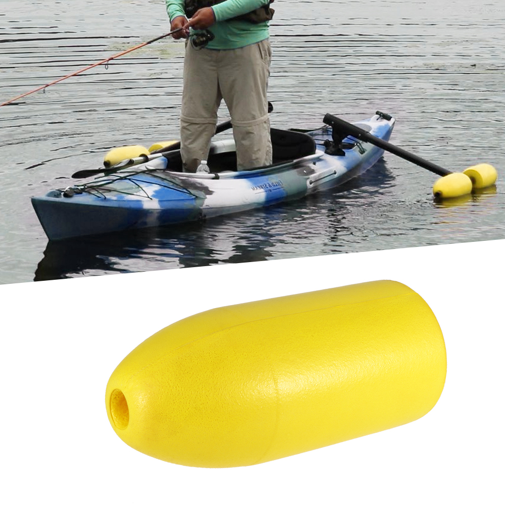 Set 4 Yellow Outrigger Stabilizer Water Buoy Float for Kayak Canoe Boating