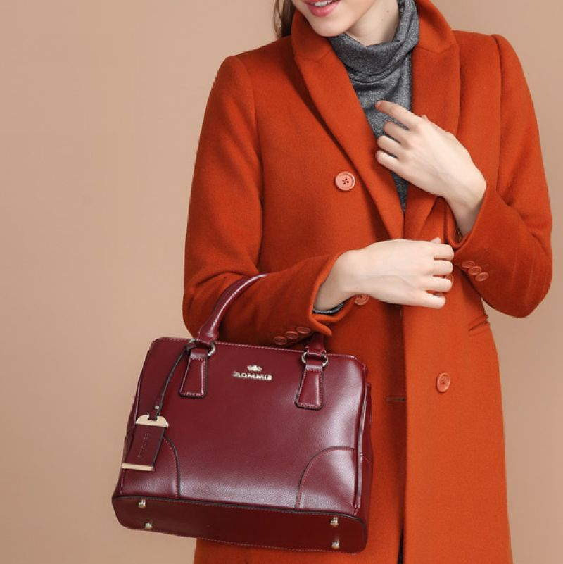 цены Quality Guaranteed~New Fashion Women Cowhide Genuine Leather Handbag\Bag, Ladies' Tote Bags\shoulder bags \Messenger bag~13B208