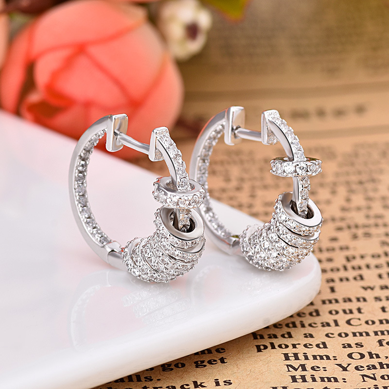 Hot Sales Fashion AAA Zircon Earrings High Quality Unique Earring Jewelry For Women ZK40