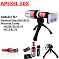 Apexel x telescópio telefone móvel para o iphone 4 5C 5S 6 Samsung N7100 i9300 i9500 S3 S4 S5 S6 nota 2 3 4 x zoom