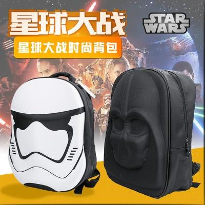 STAR WARS 3D Backpack Cosplay Prop Black Samurai School Bag Travel Bag Christmas gift