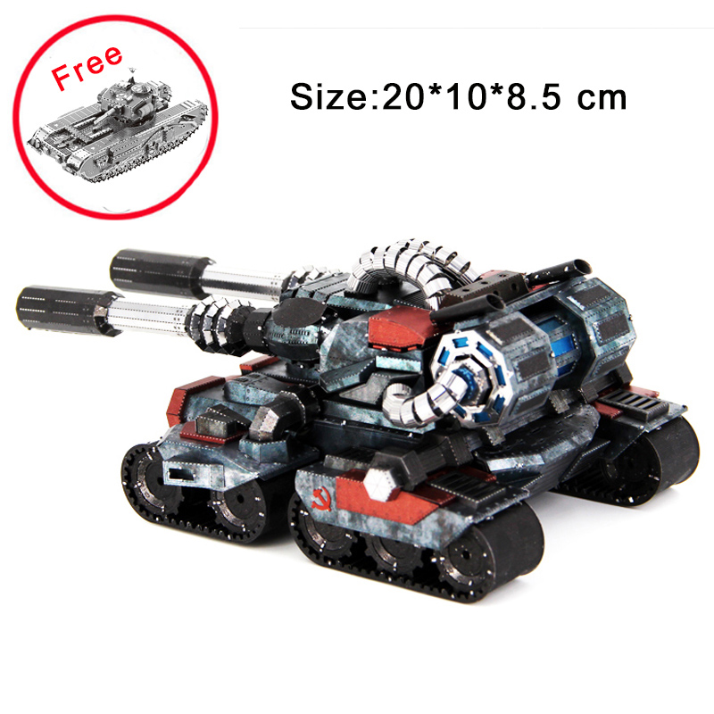 Colorful Apocalypse Tanks High-quality 3D Metal Puzzle Model Educational Collection Birthday Gift Jigsaw Adult Kids Manual Toys colorful god of war returns 3d metal puzzles model for adult kids manual jigsaw educational toys desktop display collection gift