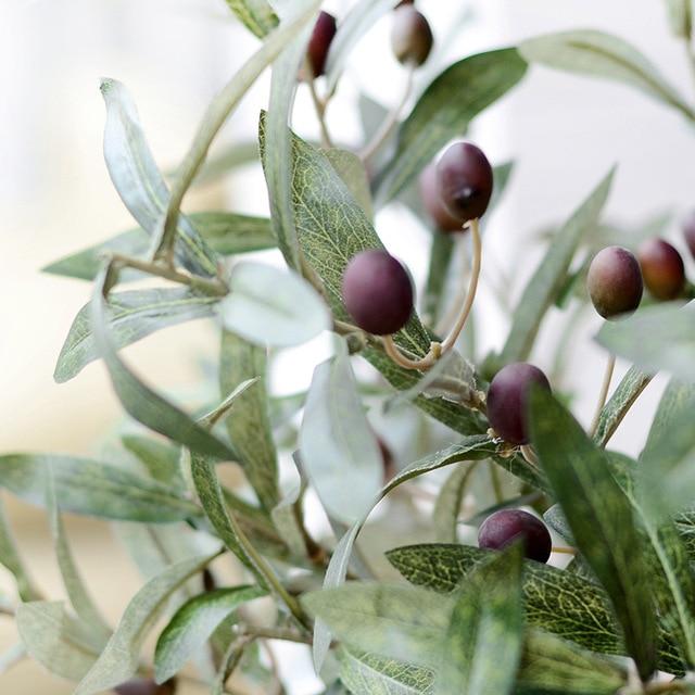 72CM Artificial Flower Green Olive Leaf Fruit Plants Indoor Plants  Artificial Flowers Home Wedding Decoration