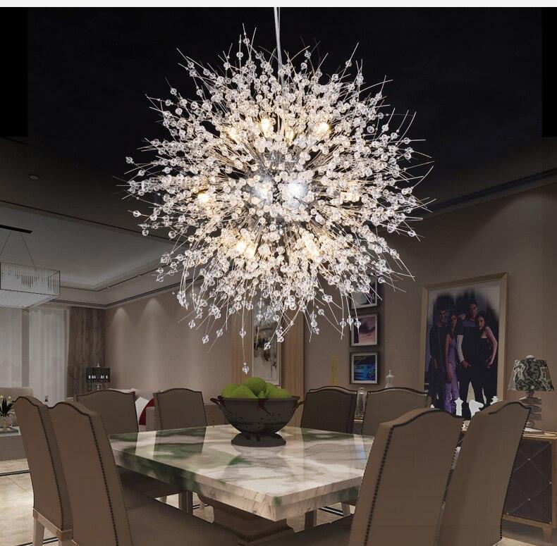 Lustres de Cristal moderna Iluminação Lustre de Cristal Lâmpada LED Lustres De Cristal Pingente Pendurado Luz Restaurante Lâmpada de Luz