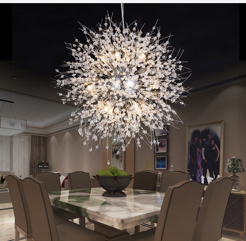 Modern Crystal Chandelier Lighting Cristal Chandeliers Lamp LED Pendant Hanging Light Lustres De Cristal Lamp Restaurant Light