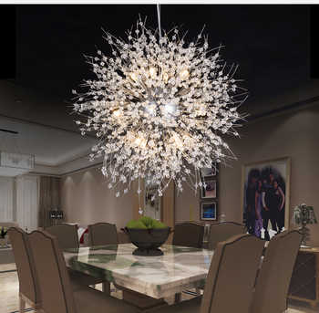 Modern Crystal Chandelier Lighting Cristal Chandeliers Lamp LED Pendant Hanging Light Lustres De Cristal Lamp Restaurant Light - DISCOUNT ITEM  51% OFF All Category