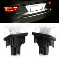 1Pair 18 LED Number License Plate Light For Peugeot 206 207 306 307 406 407 6000K