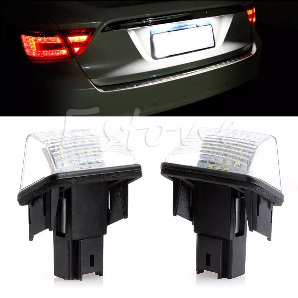 1Pair 18 LED Number License Plate Light For Peugeot 206 207 306 307 406 407 6000K C45 2pcs led license number plate light for peugeot 206 207 306 307 308 5008 406 407 for citroen picasso c3 c4 c5 c6 saxo xsara