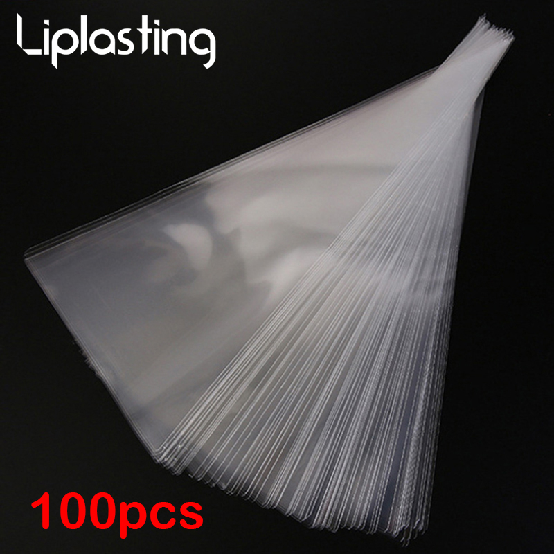 100pcs Transparent Candy Packing Bags Wedding Birthday Party Decoration Sweet Cellophane Candy Bag Cone Storage Packaging Bag