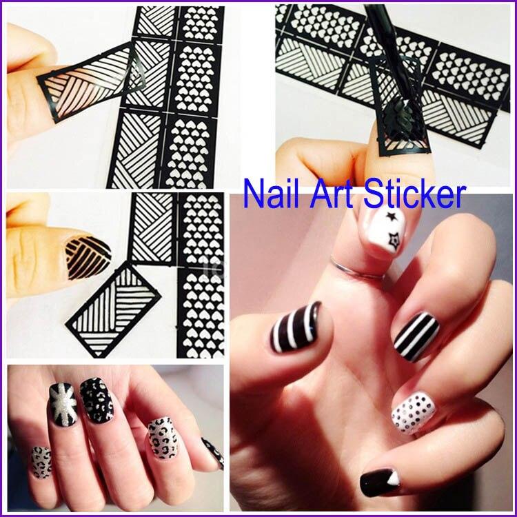 2016 New Fashion 12 Stickers 1 Sheet Snowflake Bows 3d Nail Art Decal Tips