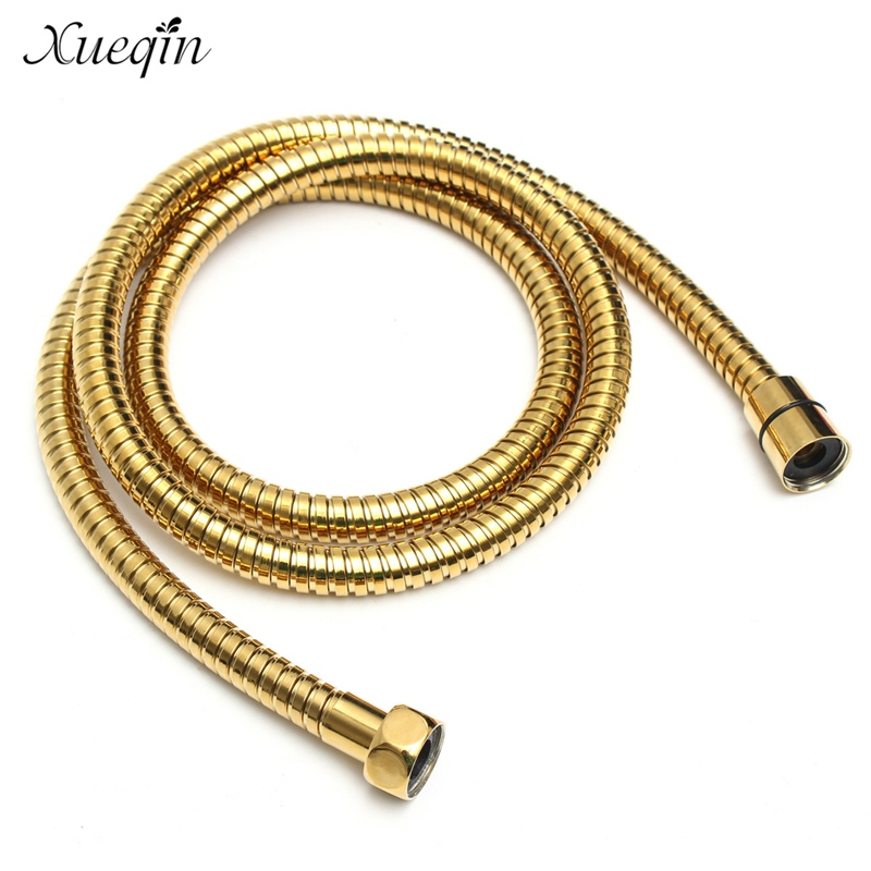15m g12 flexible bathroom stainless steel water shower head hose chrome plated gold shower pipe tube