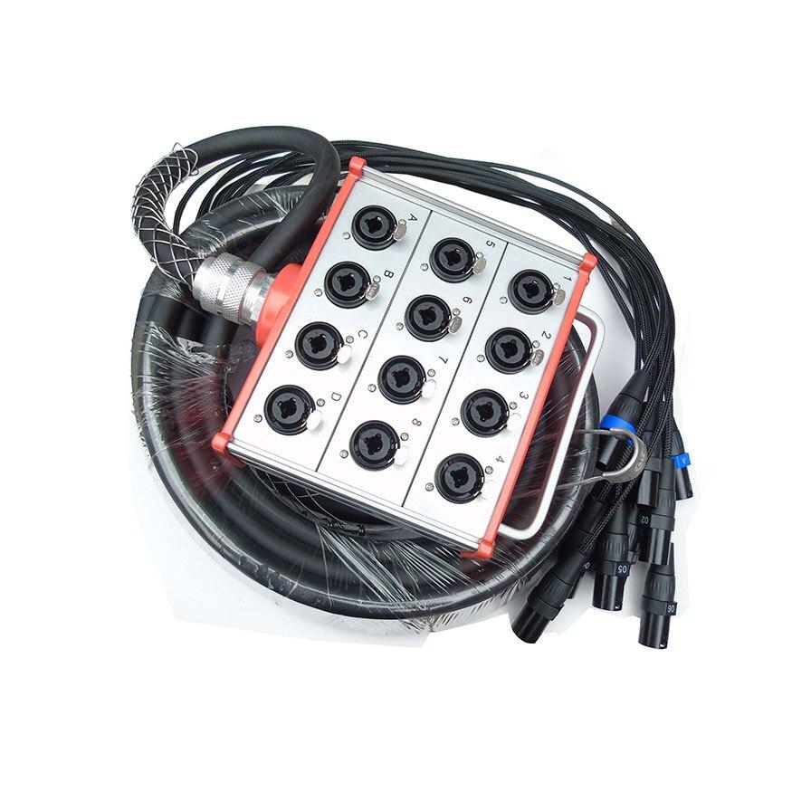 NMBJCKO 50FT 12 Channe audio câble serpent avec 3 broches XLR câble serpent mâle à mâle connecteur à XLR Combo prise Jack