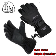 FunSeries Windproof Waterproof Thermal Skiing Gloves Snowboard Gloves Snow Snowmobile Motorcycle Riding Winter Gloves Unisex