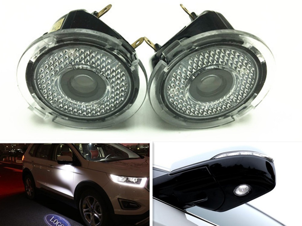 2x LED Side Mirror Door Ghost Shadow Projector Laser Welcome Courtesy Light FOR Ford Edge Mondeo Explorer Taurus Everest