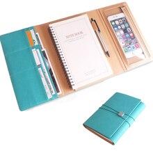 Cuaderno planificador A5 2019 Bloc de Notas 6 anillos artículos de papelería escolar, diario organizador recambio diario Agenda Ejecutivo Oficina multifunción