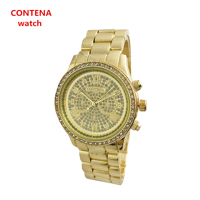 2018 new sky diamond crystal Roman steel business quartz watch simple men and women watch wrist