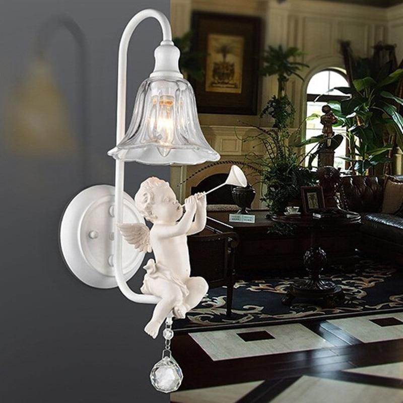 Wall Light Fixture Covers: Modern Wall Lamps Metal Boby E14 Light Bulb Glass Cover