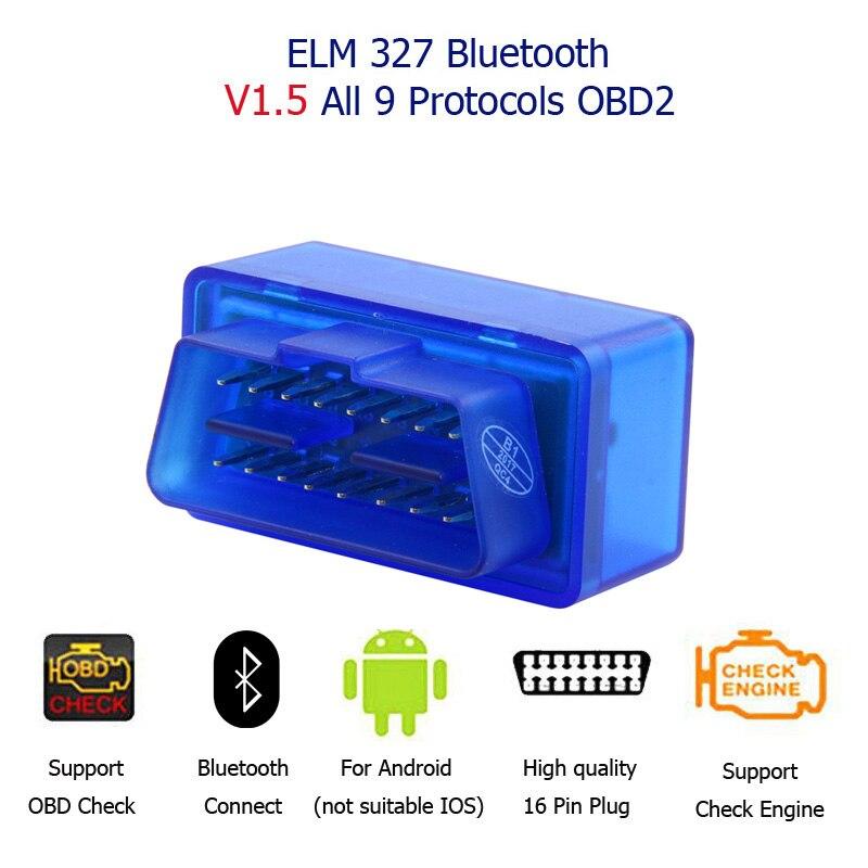 Ulme 327 V1.5 Bluetooth OBD2 Scan Tool Mit Gute 1,5 Chip Mini Bluetooth Elm327 V1.5 Obd Für Autos 1996-2017