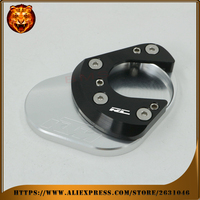 Motorcycle Foot Side Kickstand Pad Stand Extension Support Plate For KTM RC 390 RC 200 RC