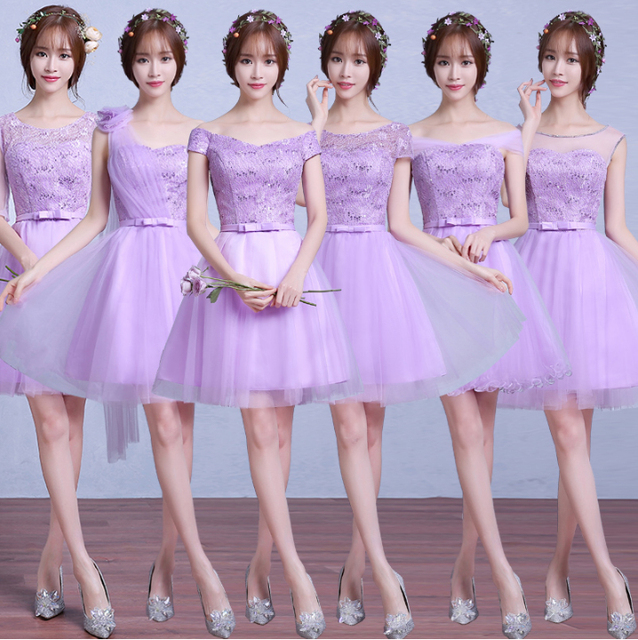 ed18f238c Lila luz púrpura lavanda bola de dama de honor vestidos para damas de honor  formal 2017