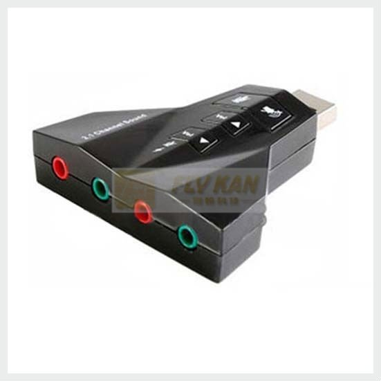Free Shipping 10Pcs/lot USB 2.0 Sound Card with Double earphone & Double Microphone US560