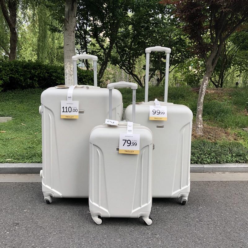 """Bagaj ve Çantalar'ten Bagaj Setleri'de SEYAHAT MASALı 20 """"24"""" 28 """"inç abs sert yan genişletilebilir spinner arabası bavul 3 adet bagaj seti tekerlekler üzerinde'da  Grup 3"""