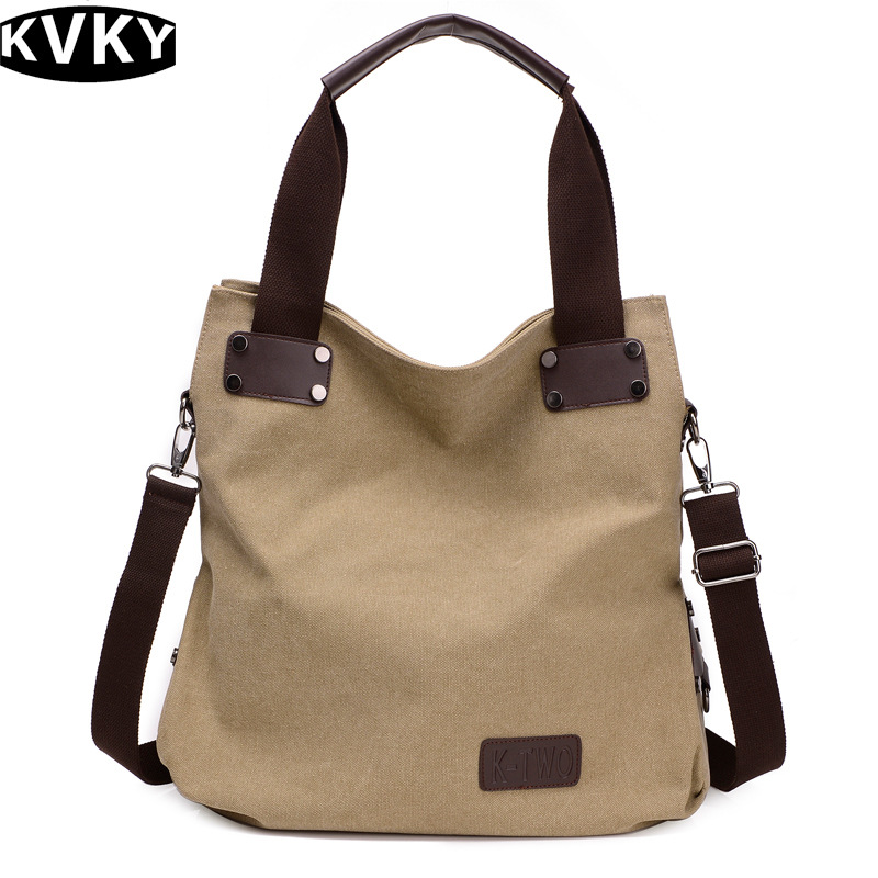Messenger Bags Ladies Canvas Bag Vintage Handbag Bucket Causal Big Bags Travel Shoulder Crossbody Bags