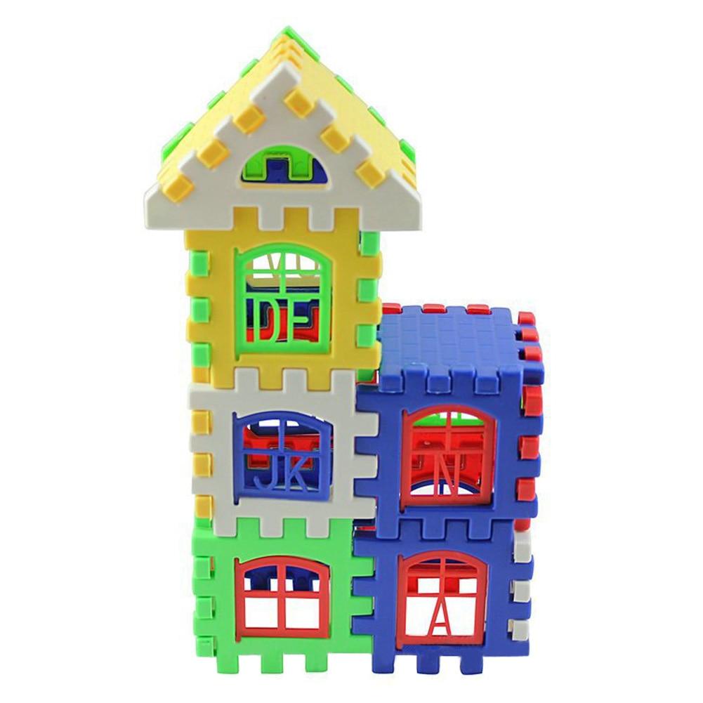 Building Construction Toys : Plastic house building blocks set