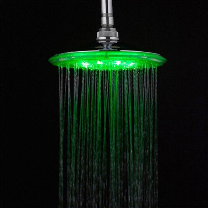 8 inch Water Power. Bathroom 3 Colors Change Led Showerhead 12 pcs ...