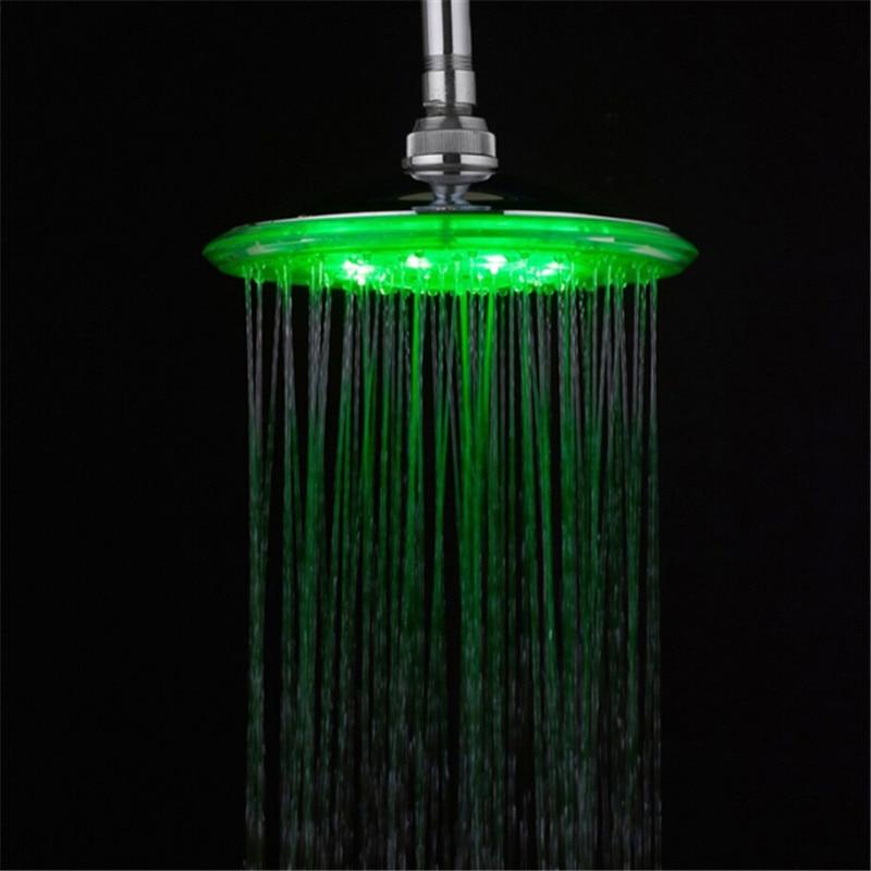 ᓂ8 pulgadas energía del agua. Baño 3 colores cambian LED ducha 12 ...