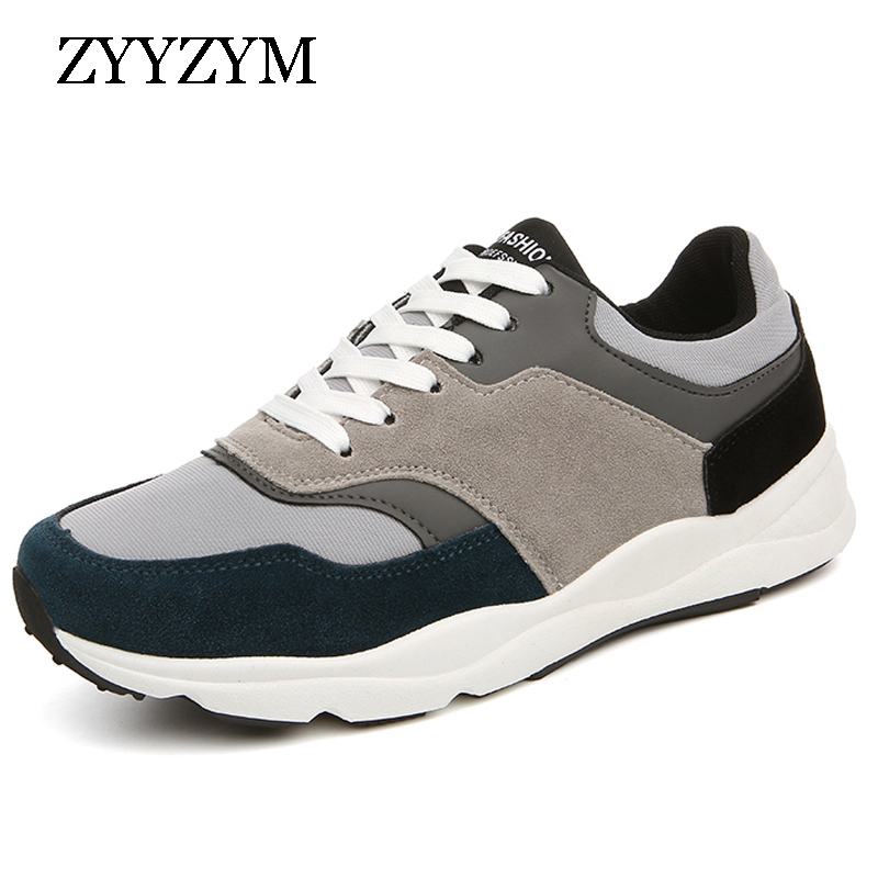 Men Casual Shoes 2017 Spring Autumn Lace up Style Fashion Sneakers Mixed Colors outdoors Breathable Flat