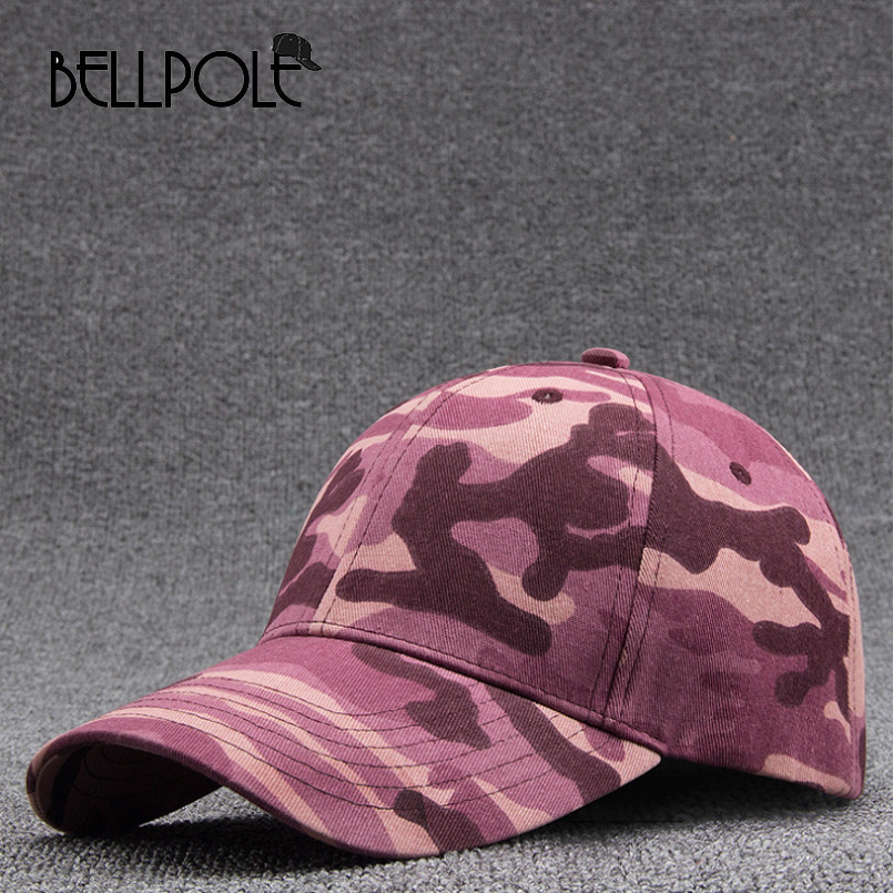 BELLPOLE 2017  Men and Women Baseball Cap Camouflage Hat Gorras Militares Hombre Adjustable Snapbacks Caps Trend fashion Peaked fashion solid color baseball cap for men and women