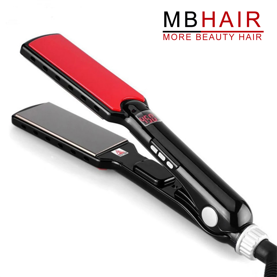 "professional Nano Titanium 1 1/2"" Wide Plates LED Display Salon Hair Straightener Flat Iron Styling Tools wet & dry 110-240V"