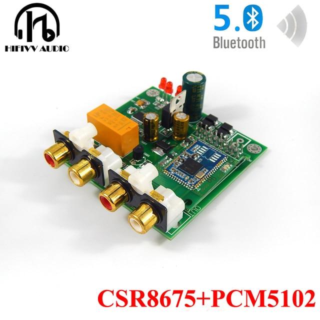 CSR8675 + PCM5102A Bluetooth 5.0 APTX HD DAC Bluetooth Ontvanger Ondersteunt analoge input en output