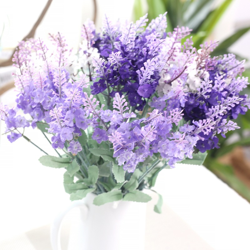 Artificial Flowers Artificial Plants Fake Leaf Lavender Road Lead Wedding Decoration Home Decor Party Decorative Silk