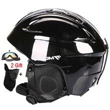 MOON Ultralight Ski Helmet In-mold Skating Skateboard Snowboard Helmet Size 52-64 CM CE Certification Safety Skiing Helmet
