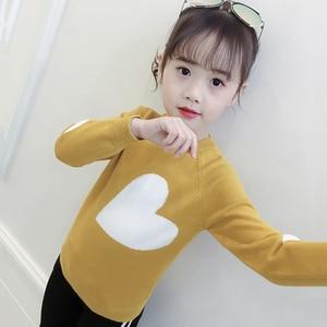 Image 3 - 소녀를위한 새로운 여자 스웨터 인쇄 스웨터 봄 아이 옷 십대 소녀 상위 10 대 소녀를위한 어린이 의상 6 8 12 년