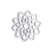 10pcs Dreamcatcher Lotus Flower Pendant Charms Fashion Real Stainless Steel for DIY Jewelry Making Findings