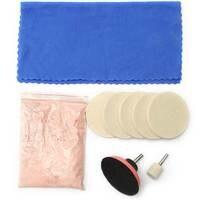 10 Pcs Glass Scrach Remover Polishing Kit 100g Cerium Oxide Polishing Powder And 3 Inch Felt