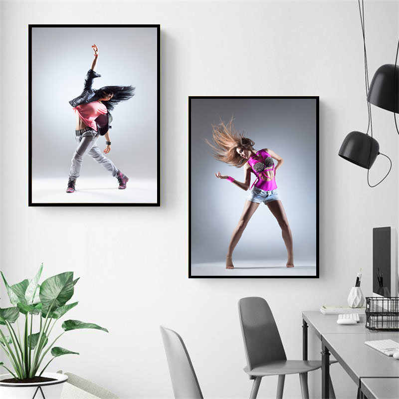 Dance Girl Art Canvas Painting Print Poster Street Dancer Wall Picture Paintings Bedroom Wall Decor Poster PD2644