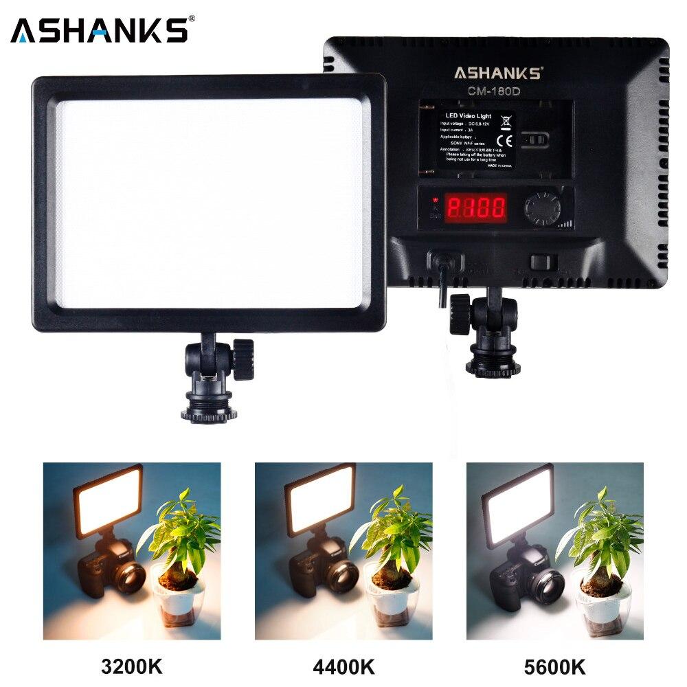 ASHANKS Profissional Ultra-fina LEVOU Luz De Vídeo 3200 K-5600 K para a Luz Brilho Ajustável e Dupla Cor temp para Canon Nikon