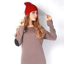 Retro Princess Hat Women's Winter Knitting Mesh Hat Vintage Beanies Gauze Veil Cap Knitted Women Hat For Girls gorros HO861167