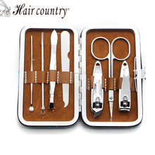 7pcs  Nail Care Set Pedicure Scissor Tweezer Knife Ear pick Utility Manicure Set Tools