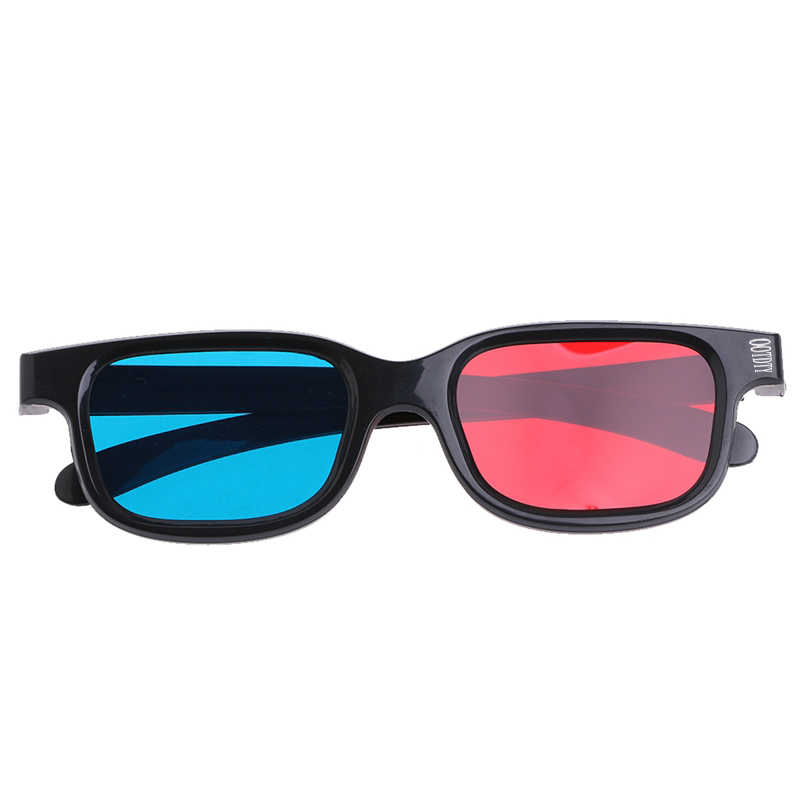 OOTDTY Fashion Universal Black Frame Red Blue Cyan Anaglyph 3D Glasses 0.2mm For Movie Game DVD #4XFC#Drop Shipping