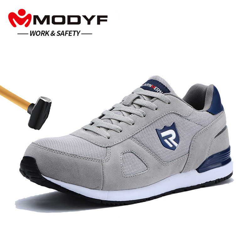 Back To Search Resultsshoes Men's Shoes Safety Shoes Mens Steel Toe Lightweight Anti-smashing Indestructible Breathable Sneakers Men Outdoor Toe Footwear Work Safety