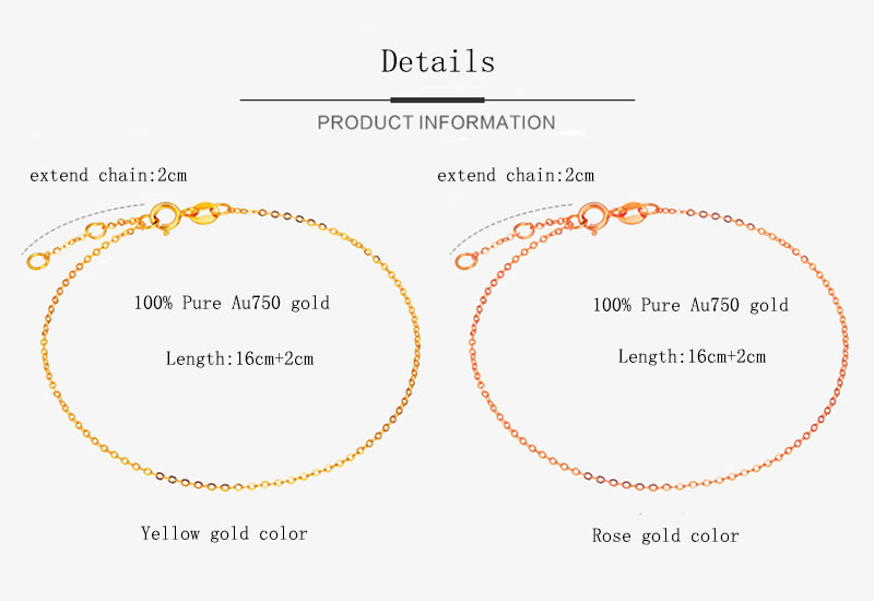 18k Au750 gold chain bracelet (14)