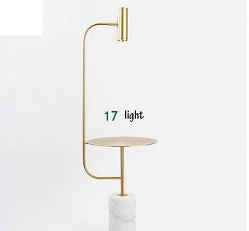 Europa Nordic małe miedź mosiądz piętro światła LED złoty nowoczesne światła sypialnia jadalnia Bar światła podłogowe LED